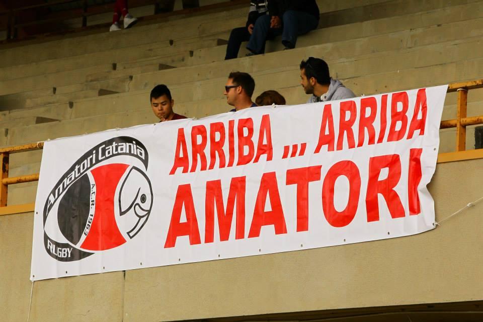 Striscione Arriba...Arriba - Amatori Catania Rugby.com - Catania