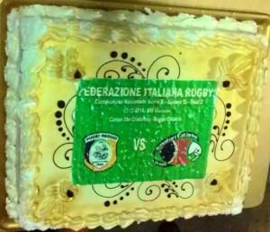 Amatori Ct vs Reggio Calabria Rugby torta