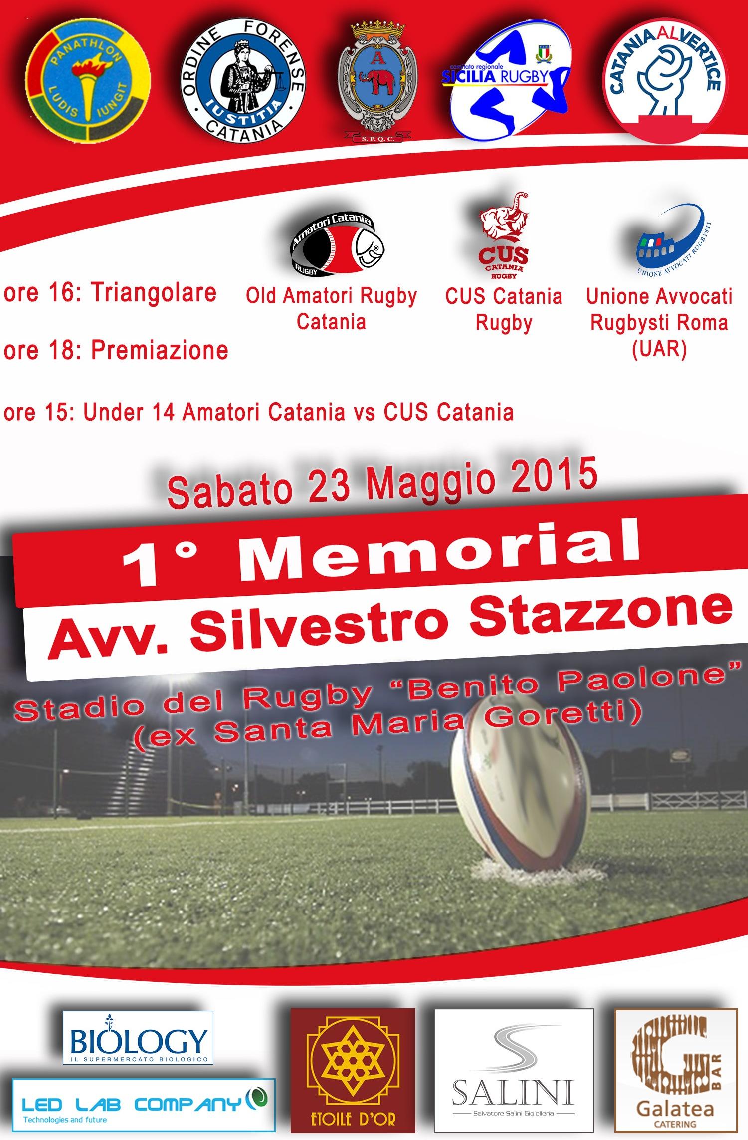 1^ Memorial Avv Silvestro Stazzone