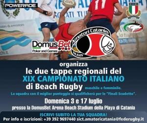 Beach Rugby: tutto pronto a Catania. Info e iscrizioni